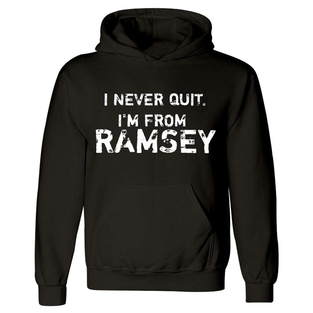 Hoodie Black MESS I Never Quit Im from Ramsey