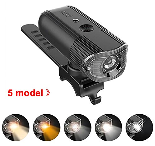 USB Rechargeable Bike LED Light Set POWERFUL Lumens Waterproof 4000mAh Bicycle Headlight FREE TAIL LIGHT, Front and Back Rear Lights Easy To Install for Kids Men Women Road Cycling Safety Flashlig Review
