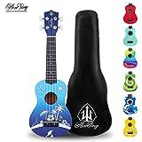 Honsing Kids Ukulele,Soprano Ukulele Beginner,Hawaii kids Guitar Uke Basswood 21 inches with Gig