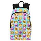 InterestPrint Custom Galaxy Emoji Heart Casual Backpack School Bag Travel Daypack For Sale