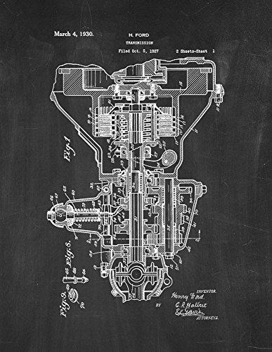 Henry Ford Transmission Patent Print Chalkboard (5