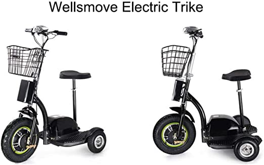 Bicicleta eléctrica Plegable de Tres Ruedas para Adultos Mayores ...