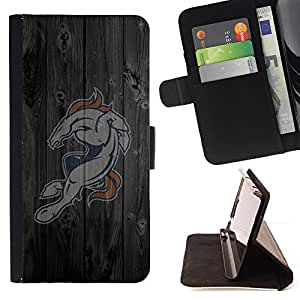 BullDog Case - FOR/Apple Iphone 6 PLUS 5.5 / - / Horse Sports Team /- Monedero de cuero de la PU Llevar cubierta de la caja con el ID Credit Card Slots Flip funda de cuer