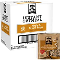 48 Ct. Quaker Instant Oatmeal Breakfast Cereal