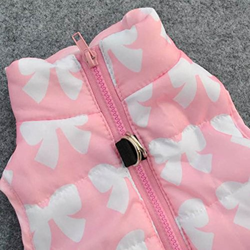 Image of PanDaDa Puppy Pet Dogs Padded Vest Harness Warm Coats Jackets Costumes Pink