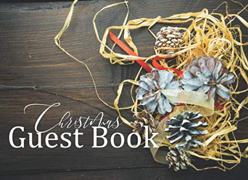Christmas Guest Book: Christmas Guest Book | preserve memories of christmas party | christmas present |100 pages, 8,2 x 6 inches