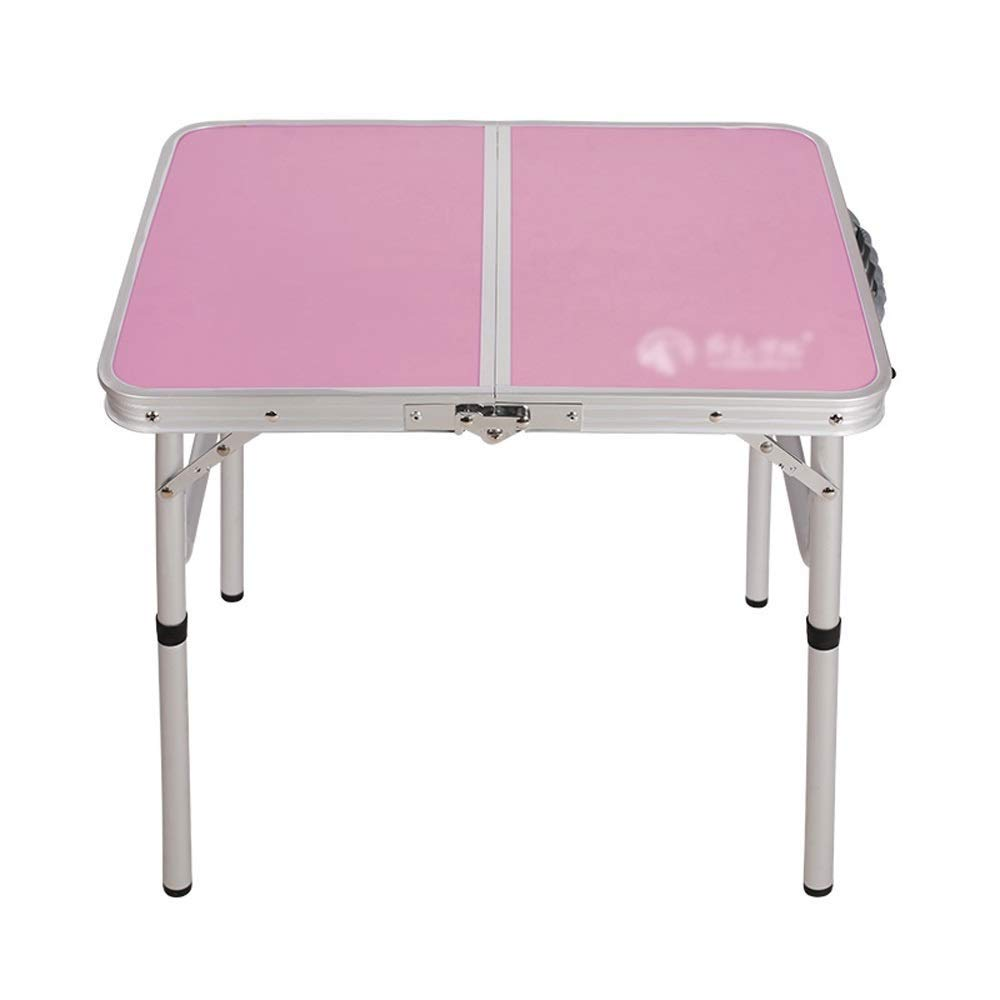Multi-Color Optional Portable Camping Table Grljd Portable Tent Table Outdoor Folding Camping Table Fishing Picnic Table Garden Table Multi-Function Folding Table Color : Pink Fold Away Table