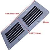 Prairie Metal Stamped Louvered Vent Air Grill Cover Ventilation Louver Grille Stainless Steel