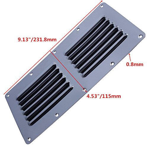 Prairie Metal Stamped Louvered Vent Air Grill Cover Ventilation Louver Grille Stainless - Louver Metal
