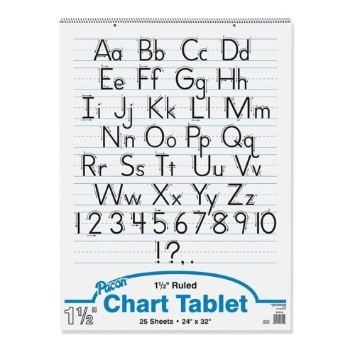 PACON CORPORATION CHART TABLET 24X32 1-1/2 IN RULED (Set of 3) by Pacon
