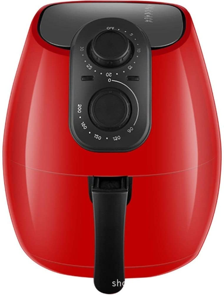 Air Fryers for Home Use 4.5L (1200 Watt) Family-Sized Air Fryer with Rapid Air Circulation SystemCeramic Non-Stick CoatingSimple Knob Controls (Color : Red) MZXDX (Color : Red)