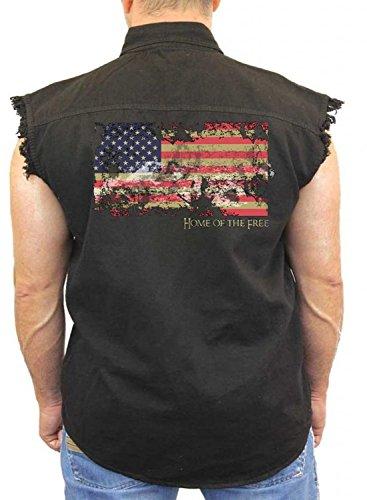 Patriotic Denim Distressed American Sleeveless