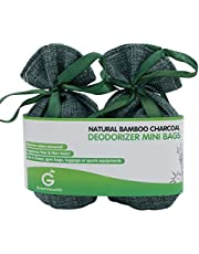 Golden Value SG Bamboo Charcoal Deodorizer Mini Bags Best Air Purifiers For Smokers & Allergies Perfect Air Fresheners For Shoes Gym Bag Locker & Small Space