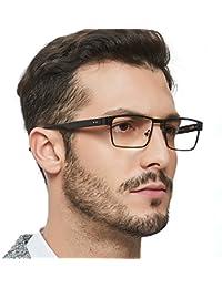 Men Rectange Optical Eyewear Frames With Non-Prescription...