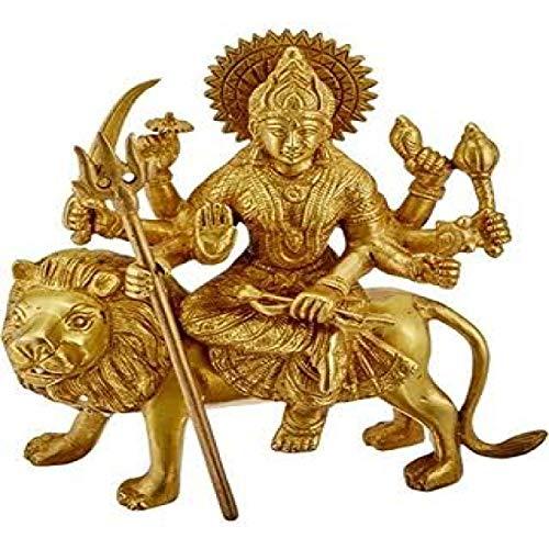 8 Metals Astadhatu Made Shri Durga Idol//Shri Vaishno Devi Idol//Sherawali MATA Idol//Durga MATA Brass Idol//Durga MATA Puja Idol 6 cm Vrindavan
