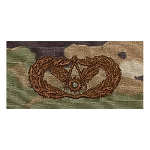 (US Air Force Civil Engineer Basic OCP Spice Brown Badge)