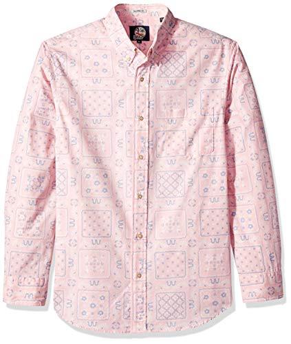 Reyn Spooner Men's Original Lahaina Long Sleeve Hawaiian Shirt, Pink, XS