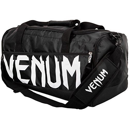 - Venum Sparring Sport Bag - Black/White, One Size