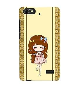 Fuson 3D Printed Girly Designer back case cover for Huawei Honor 4C - D4451