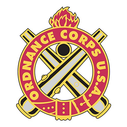 - US Army - Ordnance Corps Insignia Reflective Decal - 3.5 Inch Tall Full Color Decal On 3M Reflective Material