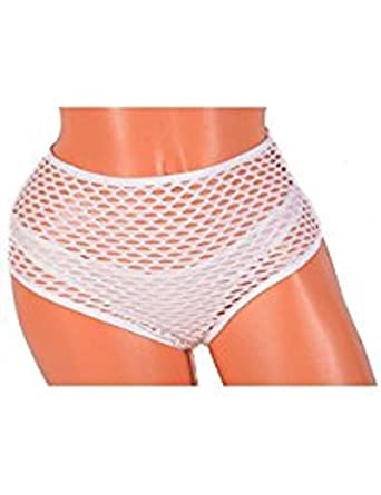 190eb0cc899d Image Unavailable. Image not available for. Color: Victorias Secret High  Waist Fishnet Mesh Thong Cheeky Panty Size Large