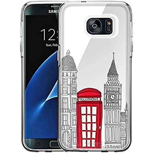 Samsung Galaxy S7 Edge Case, Snap On Cover by Trek London Red Telephone Booth One Piece Trans Case Sales