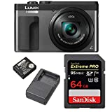 Panasonic Lumix DMC-ZS70S 20.3 Megapixel 4K Digital Camera (Silver) w/ 64GB SD Card & Lumix Battery & Charger Travel Bundle Review