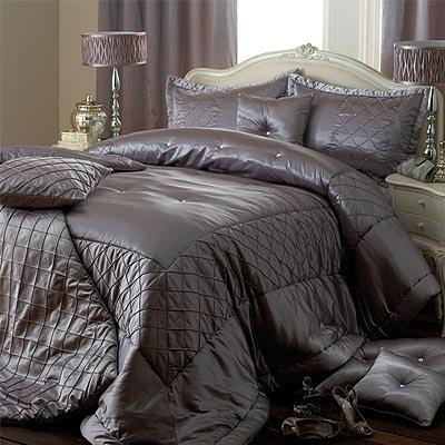 couvre lit gris satin Elegance Parure couvre lit Cristal   argenté   275 x 275cm: Amazon  couvre lit gris satin