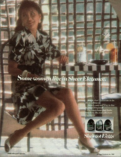 Elegance Pantyhose - Some women live in L'eggs Sheer Elegance Pantyhose ad 1987