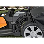 Worx wg744 cordless lawn mower 20 the 17 inches mower includes 2 removable 20v 4; 0ah batteries that delivers 40v power and performance patented intellicut provides additional torque on demand and the ability to conserve battery when desired premium 2 in 1 design that mulches, bags and rear discharges and includes a quick single lever cutting height adjustment.