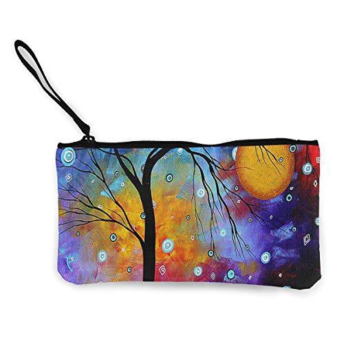 Coin Purse Tree Painting Women Zipper Canvas Purses TravelHot Bag