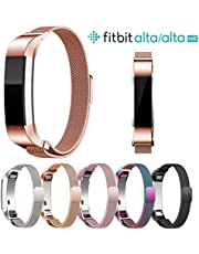 Ocamo Magnetic Stainless Steel Watch Band Strap for Fitbit Alta/Alta HR