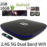 2017 Latest TV Box B-Box B BOX Q-BOX Q BOX Android TV BOX 64bits 2GB/16GB Gigabit 1000LAN 2.4G+5G Dual WiFi Bluetooth4.0 H.265 Smart TV Box