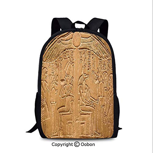 97947ff277a7 Lady Custom Backpack, Egyptian Hieroglyphs on The Wall Stone Surface  Scripts Ancient, School Bag :Suitable for Men and Women, School, Travel,  Daily ...