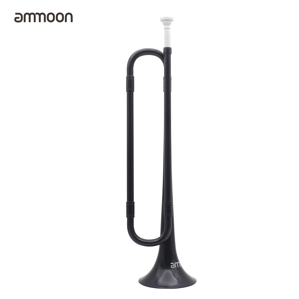 ammoon Bugle B Flat Trumpet with Mouthpiece for Band School Student (Black) by ammoon (Image #1)