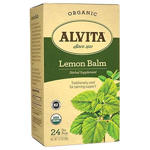 Alvita Tea Organic Herbal Balm, Lemon, 24 Count