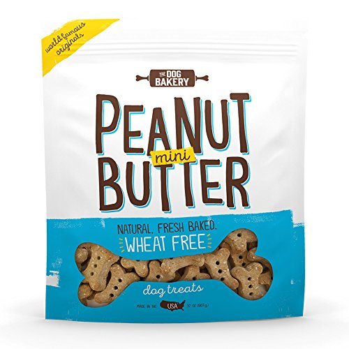 Wheat Free Bones Natural Made in The USA Healthy Dogs Treat Biscuits Bone Treats Small Mini Great for Training Limited Ingredient Dog Treats Crunchy (Peanut Butter, 2 LB Bag, Mini Size Bones) Baked Bones Peanut Butter