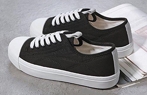 Tennis Fitness Mode Sneakers Plates Noir Chaussures Sport Basses Femme Aisun x1wfTqY0