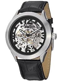 Stuhrling Original Men's 765.01 Symphony Aristocrat Commerce Mechanical Skeleton Black Dial Watch