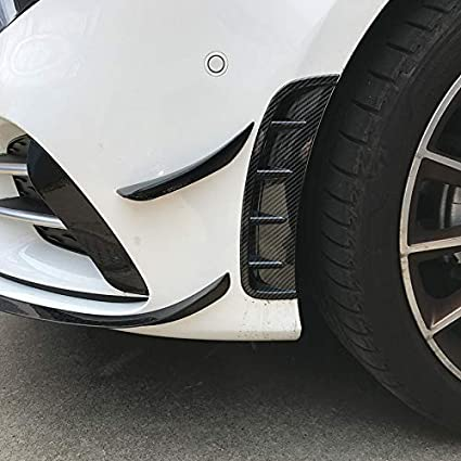 TOOGOO Parachoques Delantero Air Outlet Stickers Trim Cover para Mercedes una Class W177 A180 A200 A220 A250 Accesorios Deportivos Car Styling Fibra de Carbono