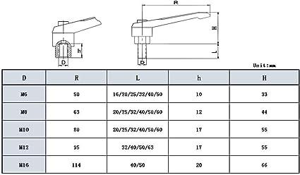 6 PC Acier Serrage Kit M10 Pour Tour Fraisage MacHine Etc