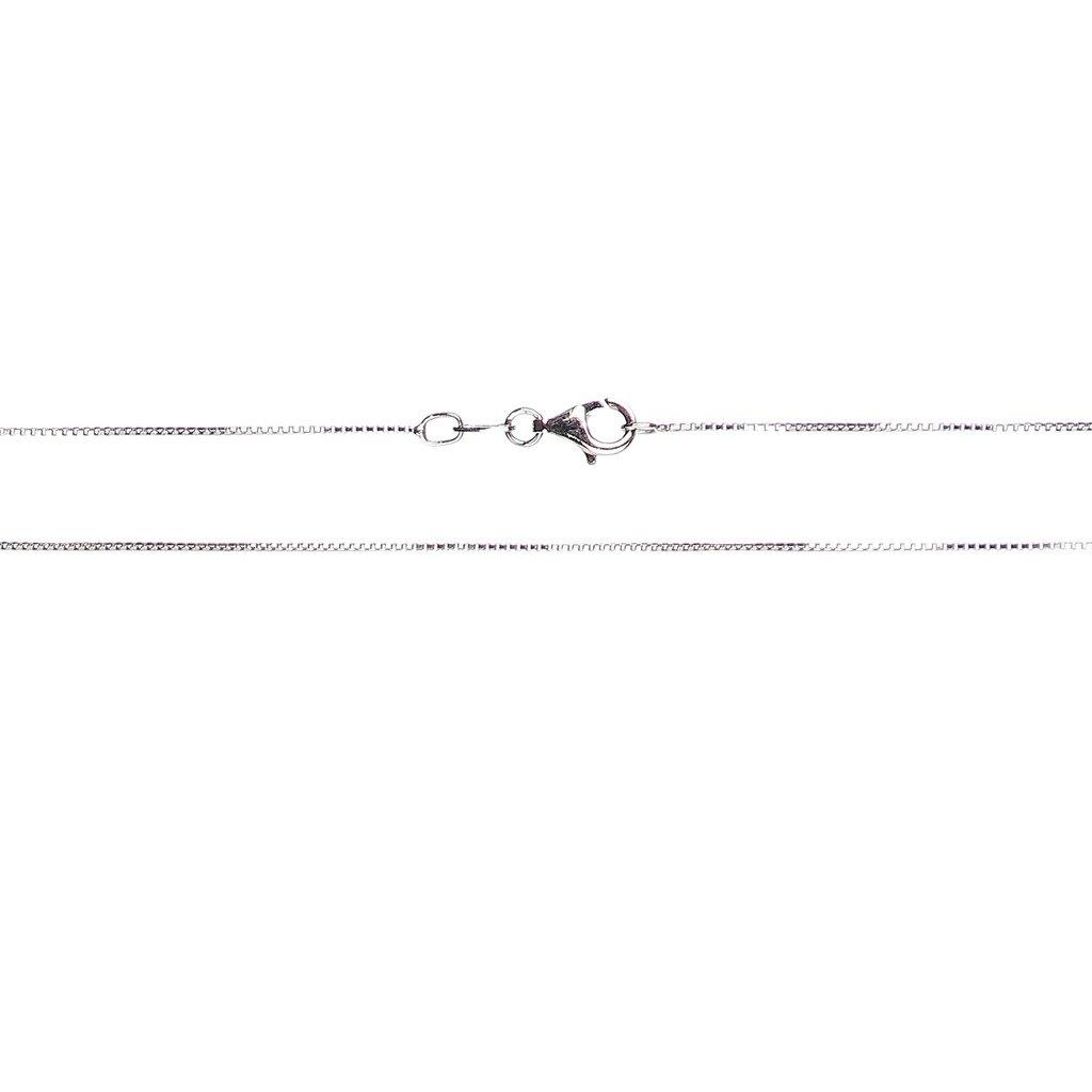 Italian Quality Chain 925 Sterling Silver Chain Diamond-Cut Box Chain Anti-Tarnish Rhodium Finish Necklace for Men or Women