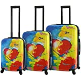 Mia Toro Prado-in Love Hardside Spinner Luggage 3 Piece Set, One Size
