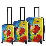 Mia Toro Hardside Spinner Luggage 3 Piece Set, Prado-in Love