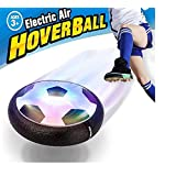 Hover Ball Air Power Soccer Disc – Maxesla Kids Sports Toys Trongle Pneumatic Suspended Floating Hockey Football, Foam Bumpers and LED Lights, Gliding Training Ball for Indoor and Outdoor Activities Games, Boys Girls Children Toys Christmas Gift