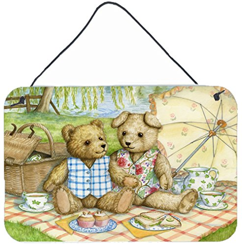 Caroline's Treasures Summertime Teddy Bears Picnic Wall or Door Hanging Prints CDCO0308DS812 8HX12W Multicolor
