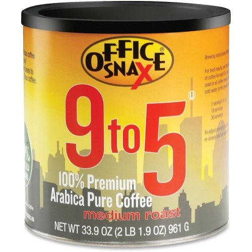 Office Snax Ofx00058 9 To 5 Pure Arabica Coffee  Original Blend  1 Can