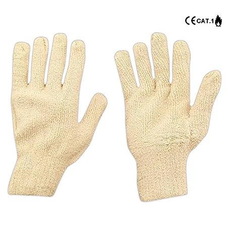 Set 2/Paar Handschuhe Grillhandschuh aus Baumwolle Boucle Endlosfasern ideal f/ür Grill Herren