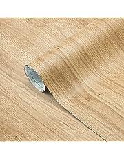 Losu Houtbehang folie zelfklevend hout kleeffolie meubelfolie 61 x 500 cm behang keukenfolie muursticker sticker van PVC type F