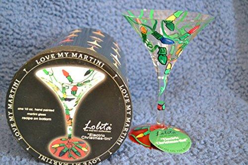 Lolita Electric Christmas-tini martini glass by Unknown